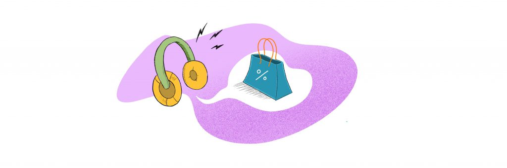 Audio-Advertising-Trends-Microphone-Shopping-Bag