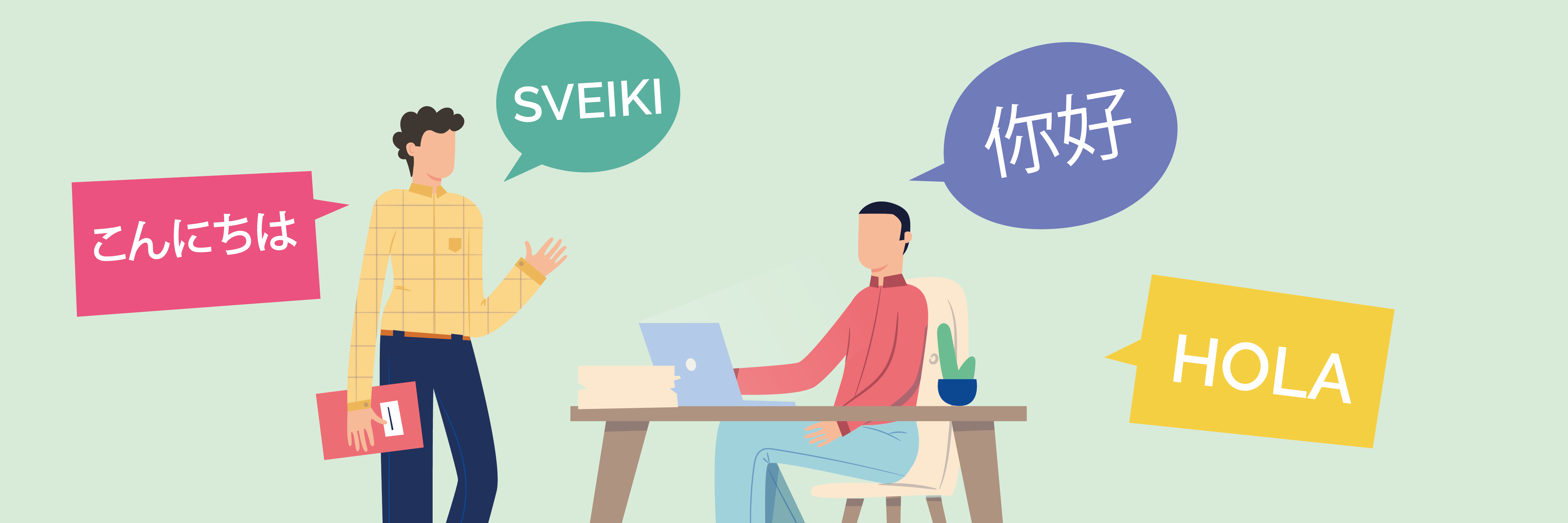 Translation-Service-People-Talking-In-Different-Languages