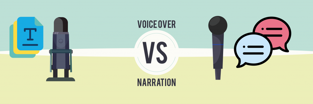 The difference between voice-over vs narration