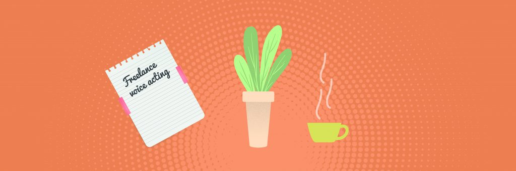 Freelance Voice Acting Acting Script Plant and Coffee