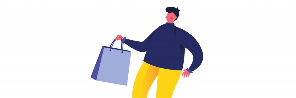 podcast-marketing-person-with-shopping-bag