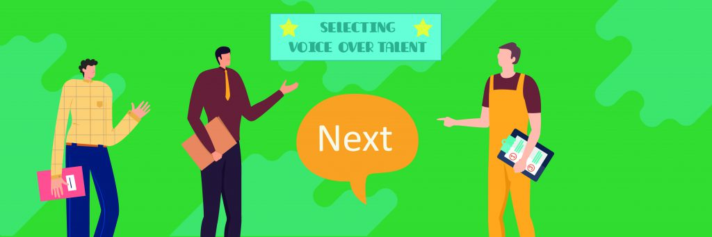 tips-for-selecting-voice-over-talent-three-voice-actors-rehearsing