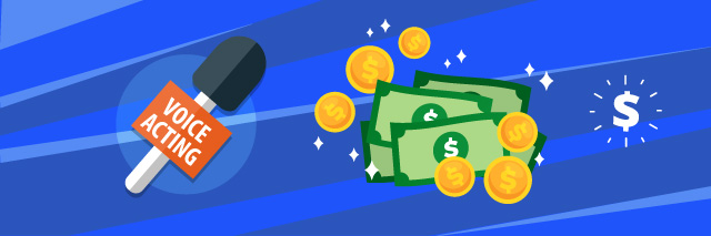 voice acting salary for voice overs