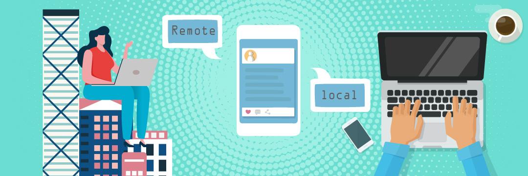 Remote work vs local work success