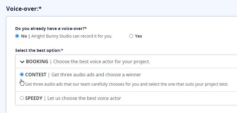 bunny studio, audio, contest